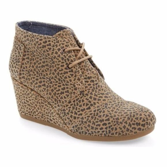 ee63467fe27 Toms Desert Cheetah Ankle Booties Wedges. M 5b5e20c85c4452c512de17a9